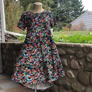 LuLaRoe Carly High-Low Dress Multi Media Floral
